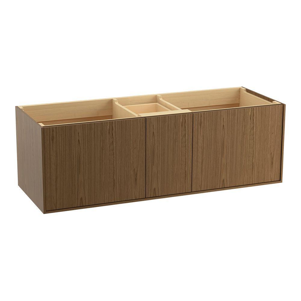 KOHLER Jute 60 in. Bath Vanity Cabinet Only in Walnut Flax