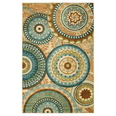 Forest Suzani Multi 8 ft. x 10 ft. Indoor Area Rug