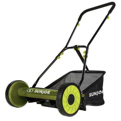 16 in. Manual Walk Behind Reel Mower with Grass Catcher (Factory Refurbished)