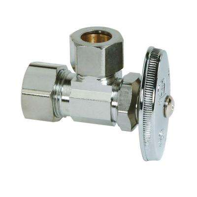 1/2 in. Nominal Compression Inlet x 1/2 in. O.D. Compression Outlet Multi-Turn Angle Valve