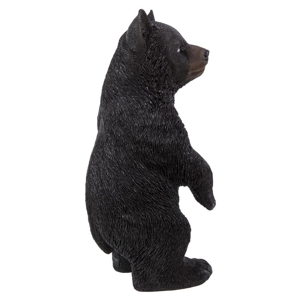 Black Bear Cub Standing Statue