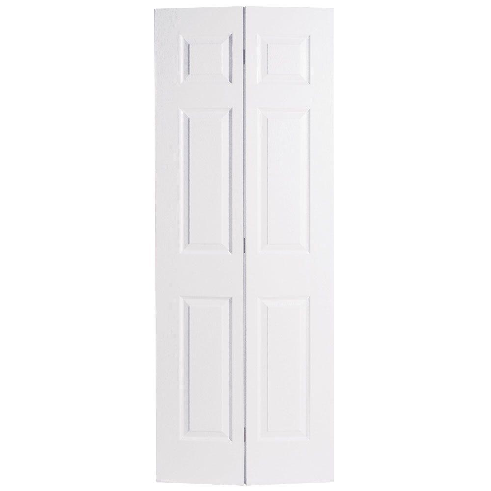 Masonite 36 in x 80 in 6 panel painted white hollow core - 30 x 80 exterior door with pet door ...