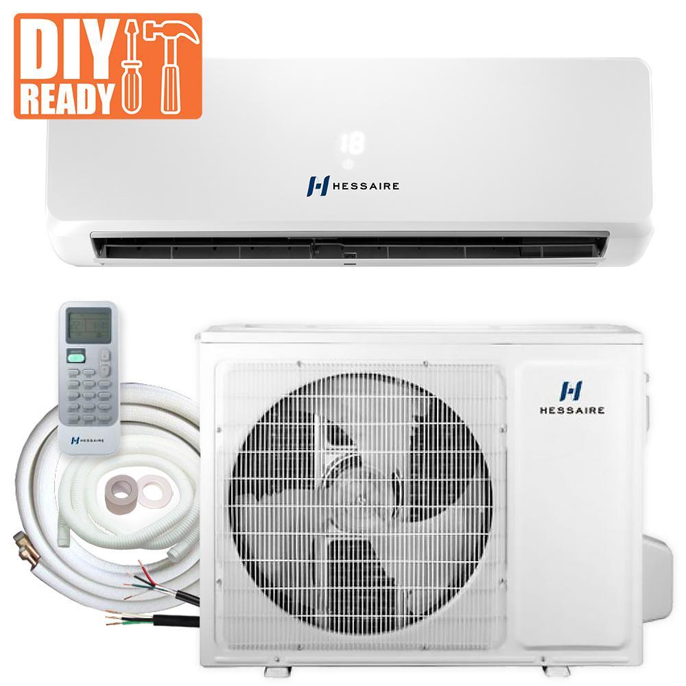 12,000 BTU 1.0 Ton 115-Volt Ductless Mini Split Air Conditioner w/ Inverter Heat Pump Remote and 16 ft. Copper Line Set