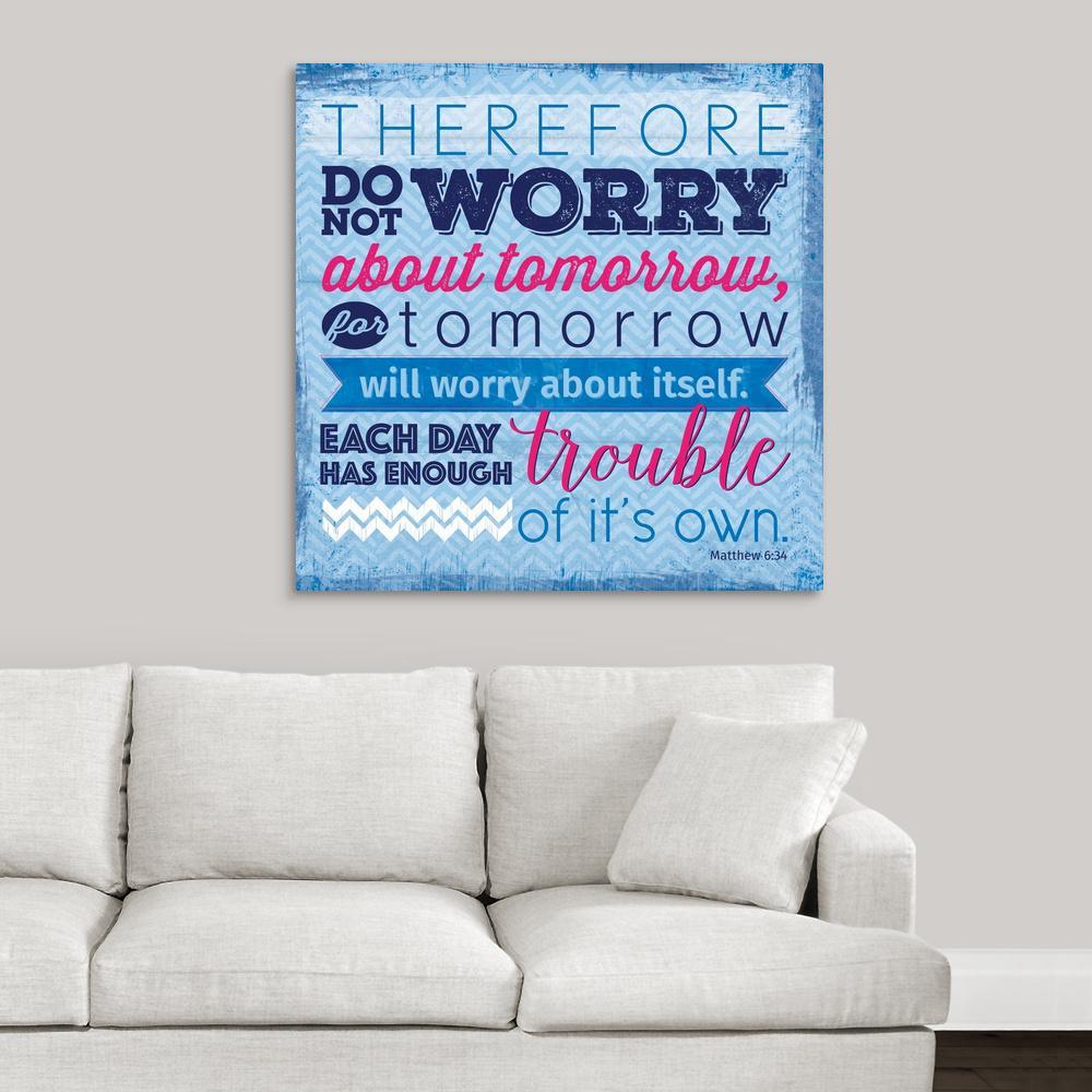 """Do Not Worry"" by  Velvet Lime Girls Canvas Wall Art"