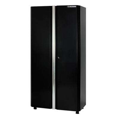 72 in. H x 36 in. W x 19 in. D Welded Steel Garage Floor Cabinet in Black