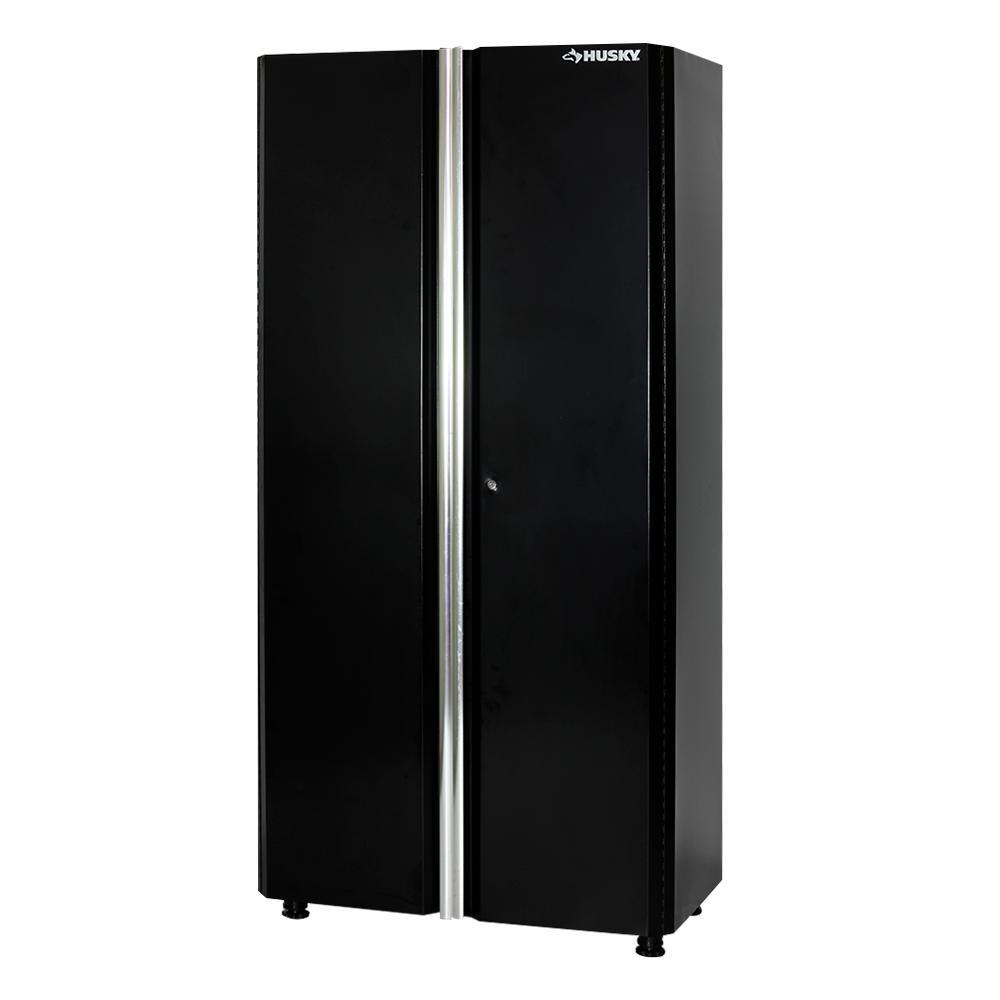 72 in. H x 36 in. W x 19 in. D Welded Steel Garage Floor Cabinet in Black