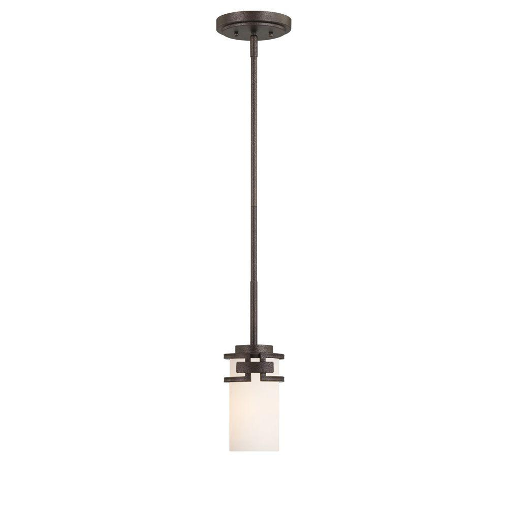 Del Ray 1-Light Flemish Bronze Interior Incandescent Mini Pendant