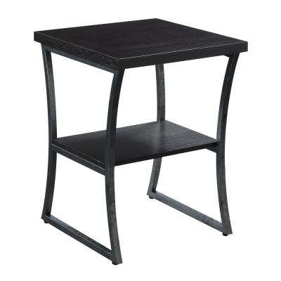 X-Calibur Espresso and Slate Gray End Table