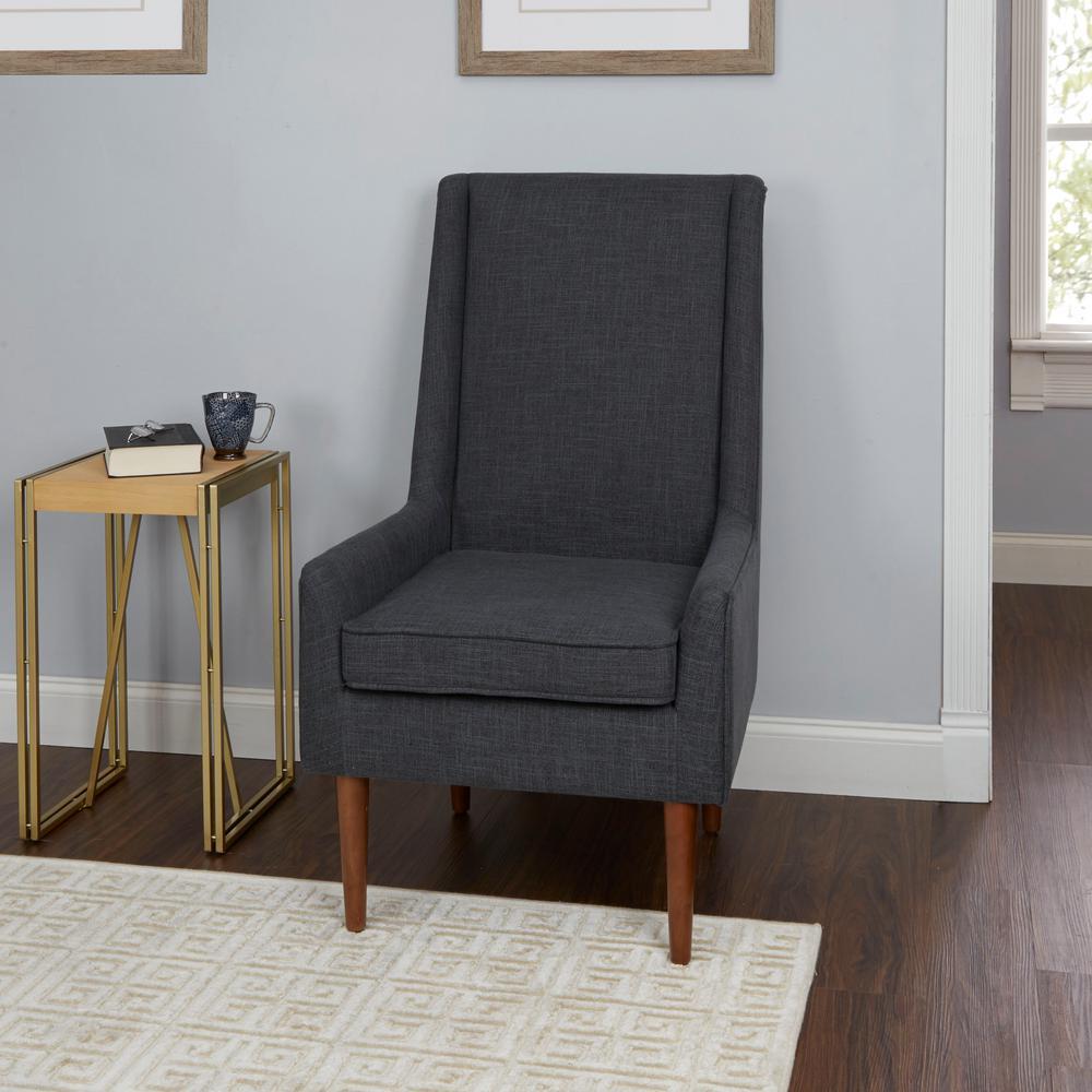 Silverwood Nelson Dark Grey High Back Mid Century Modern Accent Chair