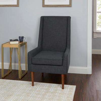 Nelson Dark Grey High Back Mid Century Modern Accent Chair