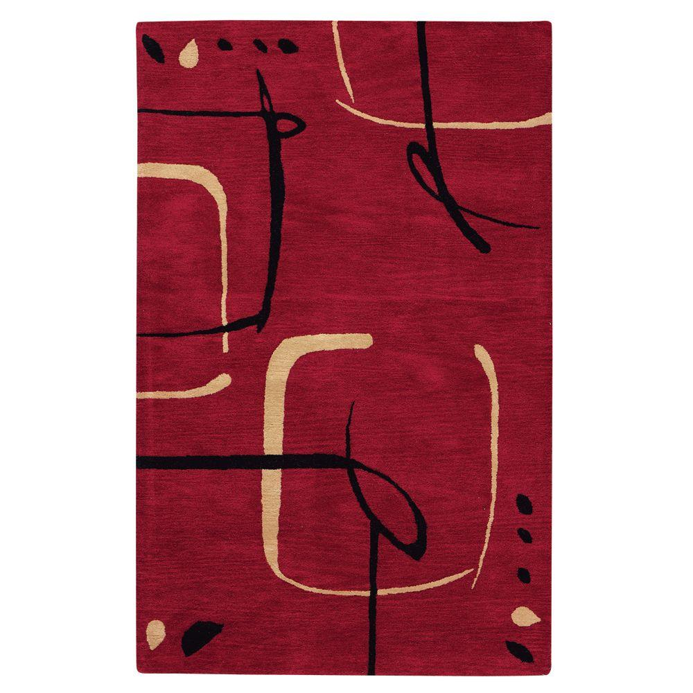 Home Decorators Collection Fragment Red 9 ft. 6 in. x 13 ft. 6 in. Area Rug