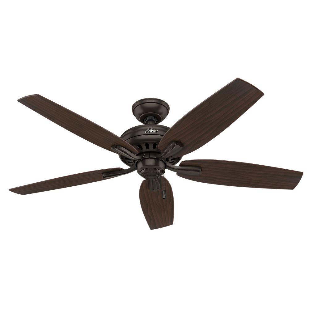 Hunter Newsome 52 in. Indoor Brushed Nickel Ceiling Fan-53321 ...