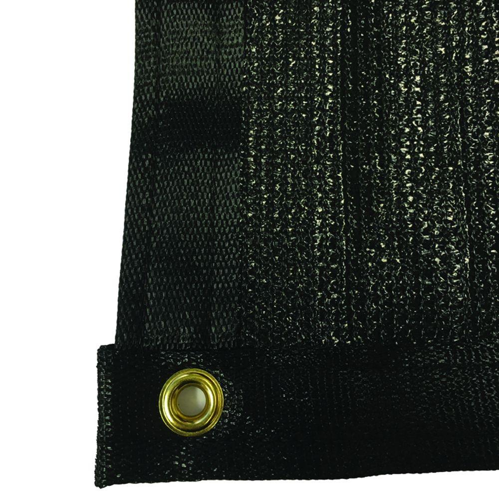 RSI 7.8 ft. x 50 ft. Black 88% Shade Protection Knitted P...