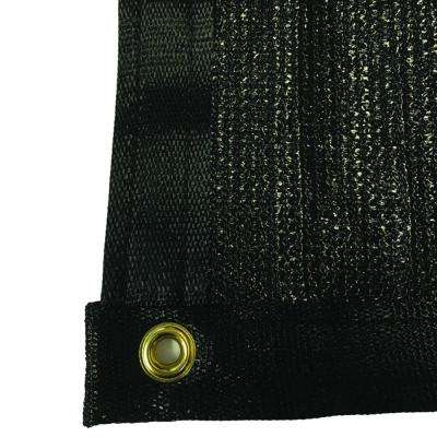 7.8 ft. x 50 ft. Black 88% Shade Protection Knitted Privacy Cloth
