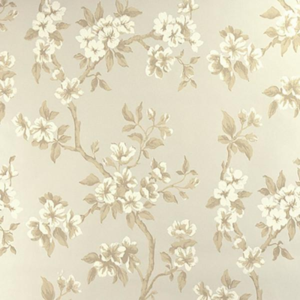 Ellen Beige Floral Paper Strippable Roll (Covers 60.8 sq. ft.)
