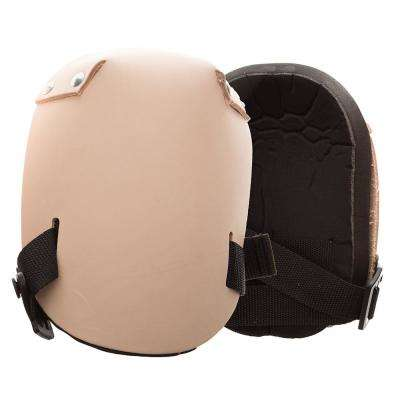 Beige Leather Knee Pads (Pair)