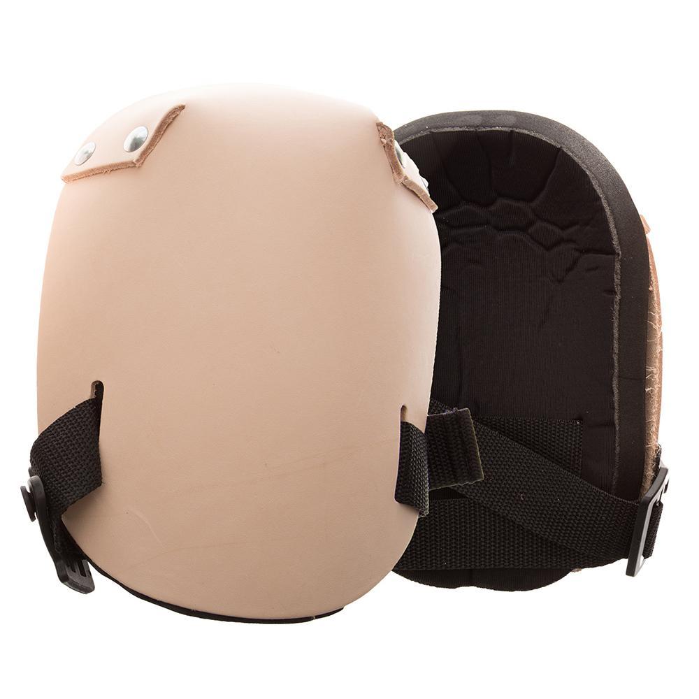 Beige Leather Knee Pads (Pair)