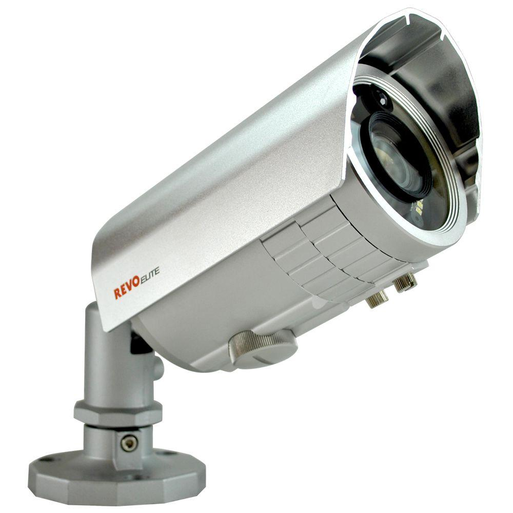 Revo Elite Wired 600 TVL Indoor and Outdoor Illuminating Bullet Surveillance Camera with Night Vision in Color