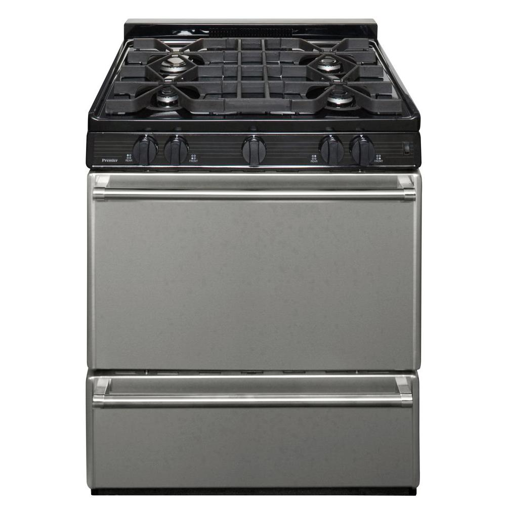 Premier ProSeries 30 in. 3.91 cu. ft. Gas Range in Stainless Steel