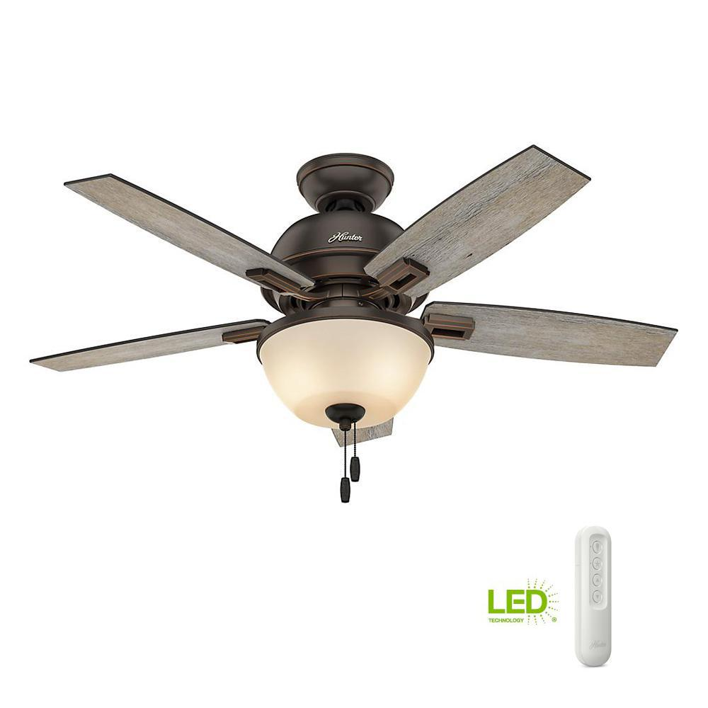 Hunter Antero 46 In Led Indoor Fresh White Ceiling Fan
