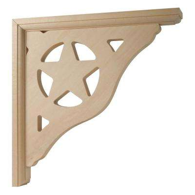 Star Design 10 in. x 1-1/2 in. x 10 in. Gingerbread Bracket