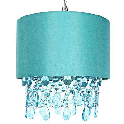 Poetic Wanderlust by Tracy Porter 1-Light Blue Pendant with Cascading Crystals