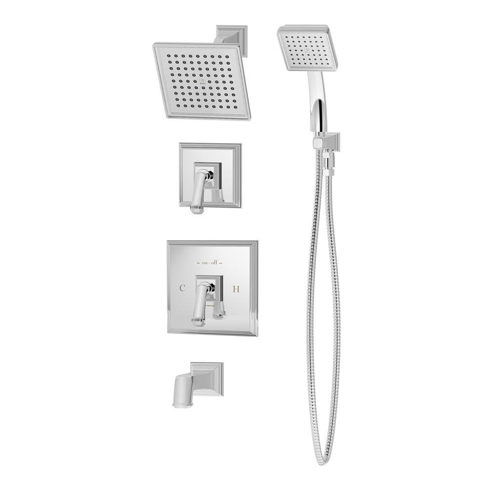 Symmons Oxford Single-Handle 1-Spray Tub and Shower Faucet in Chrome