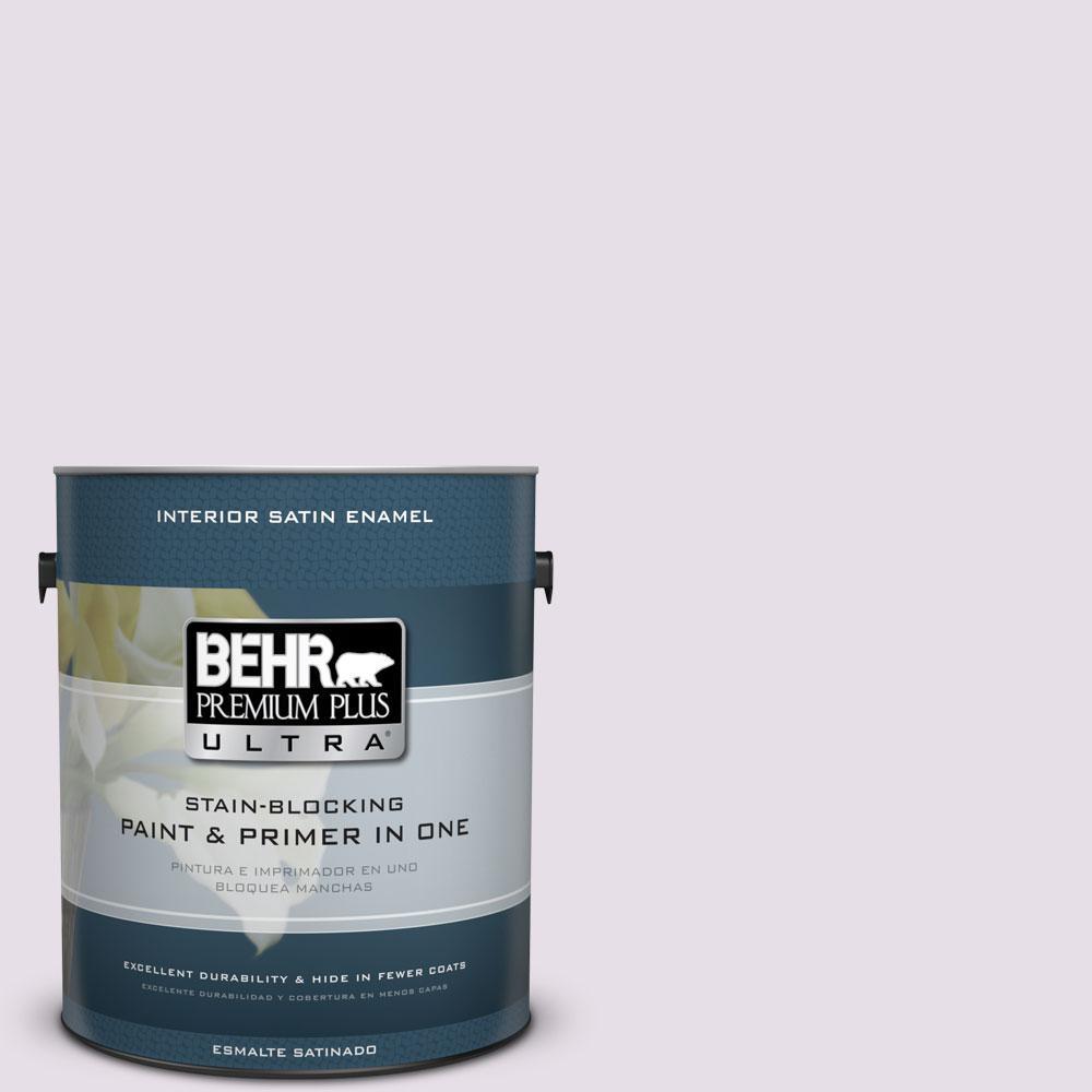 BEHR Premium Plus Ultra 1-gal. #670E-2 Pearl Violet Satin Enamel Interior Paint
