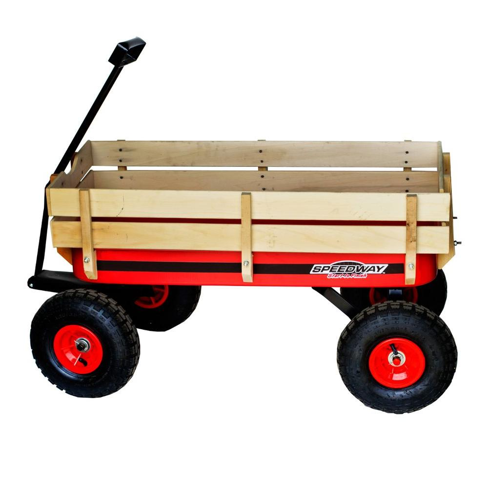 200 lb. Capacity All-Terrain Wooden Racer Wagon