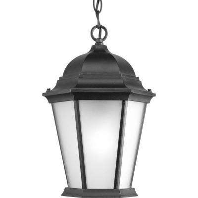 Welbourne Collection 1-Light Outdoor Black Hanging Lantern