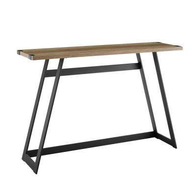 46 in. Metal Wrap Entry Table