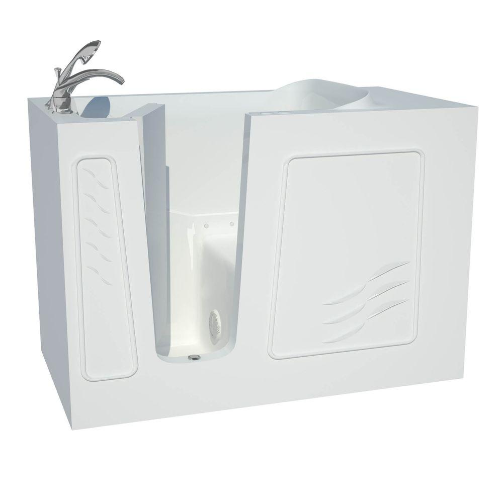 Universal Tubs Contractor Series 4.5 ft. Left Drain Walk-In Whirlpool Air Bath Tub in White
