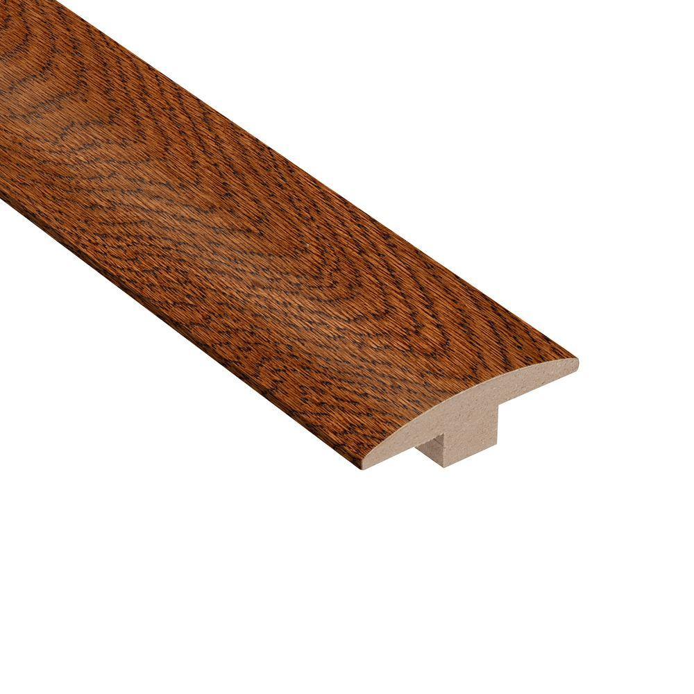 Gunstock Oak 3/8 in. Thick x 2 in. Wide x 78 in. Length Hardwood T-Molding