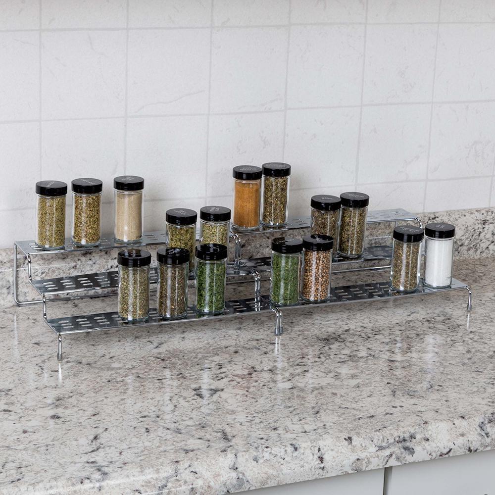 3-Tier Expandable Kitchen Spice Rack