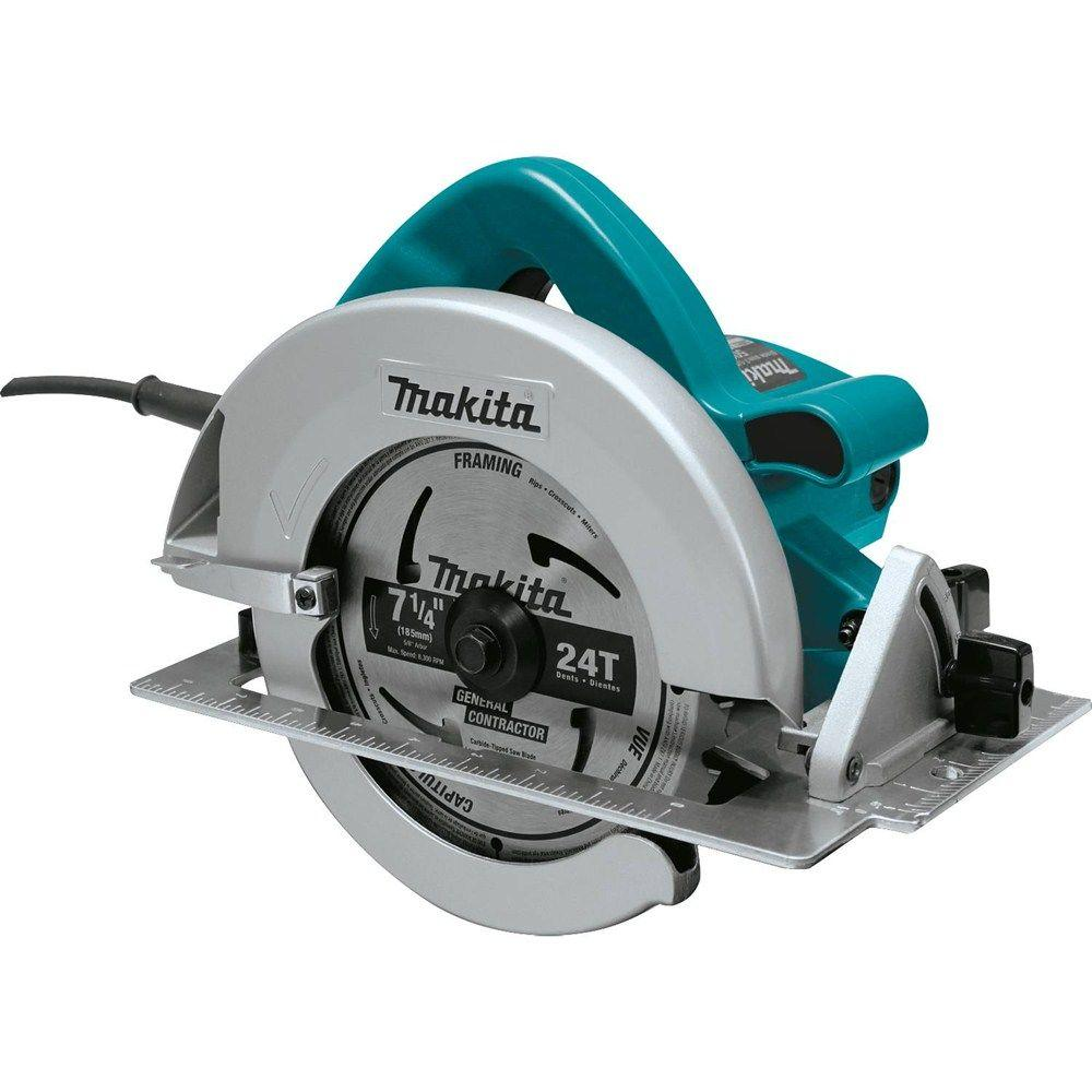 Makita 7-1/4 in. 15 Amp Corded Circular Saw with Dust Port 2 LED Lights 24T Carbide Blade