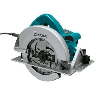 15 Amp 7-1/4 in. Corded Circular Saw w/ Dust Port, 2 LED Lights, 24T Carbide Blade