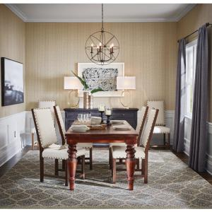 Home Decorators Collection Walton Antique Walnut Dining Table Rs 015