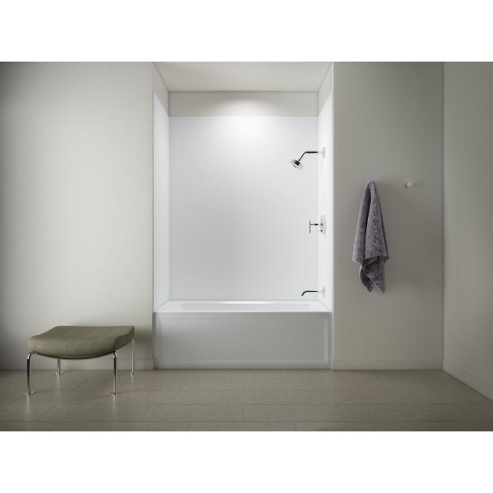 KOHLER Archer 5 ft. Right Drain Tub with Choreograph 72 in. 5-Piece ...