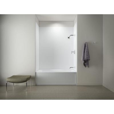 Archer 60 in. Right-Hand Drain Tub with Choreograph 60 in. X 32 in. x 72 in. 5-Piece Wall Kit in White