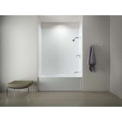 Archer 5 ft. Right Drain Tub with Choreograph 72 in. 5-Piece Bath/Shower Wall Surround in White