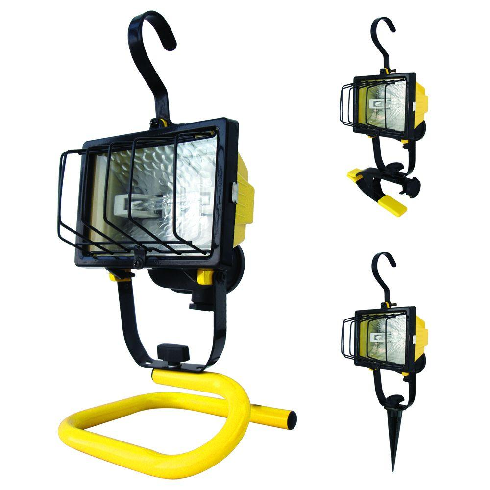 Craftsman 500 Watt Halogen Worklight: Voltec 4-In-1 250-Watt Halogen Work Light-08-00610