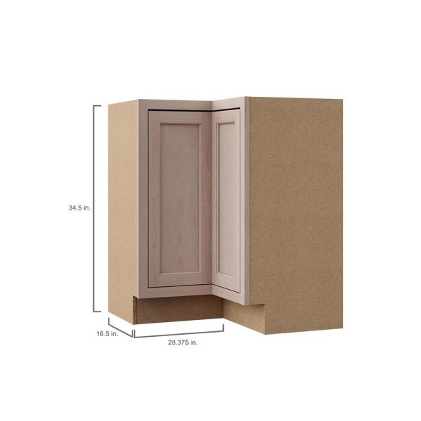 Hampton Bay Hampton Assembled 28 5x34 5x16 5 In Lazy Susan Corner Base Kitchen Cabinet In Unfinished Beech Kblsn36 Uf The Home Depot
