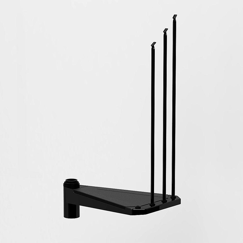 Civik 63 in. Black Spiral Staircase Add Riser