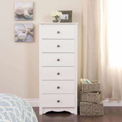 Monterey 6-Drawer White Chest