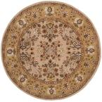Total Performance Ivory/Gold 6 ft. x 6 ft. Round Area Rug