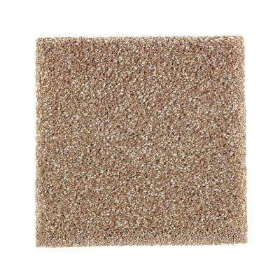 Carpet Sample - Whirlwind II - Color Canoe Texture 8 in. x 8 in.