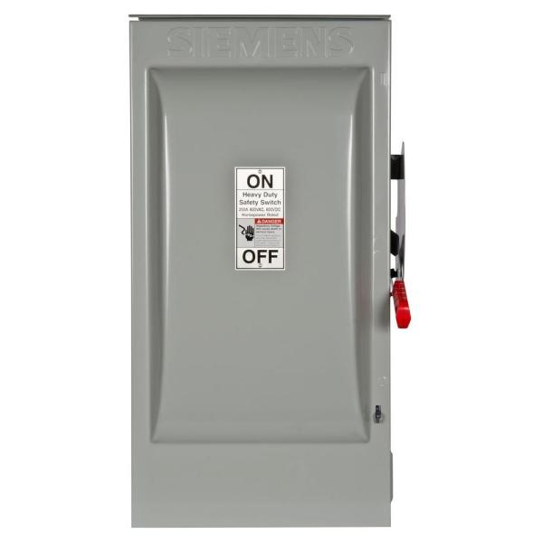 Heavy Duty 200 Amp 600-Volt 3-Pole Outdoor Fusible Safety Switch