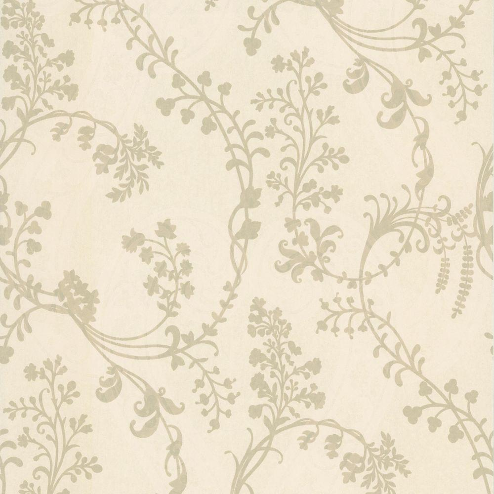 null Pandora Taupe Botanical Vines Wallpaper