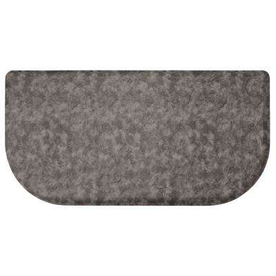 Clarance Dark Grey 39 In. X 20 In. Embossed Wedge Gelness Mat