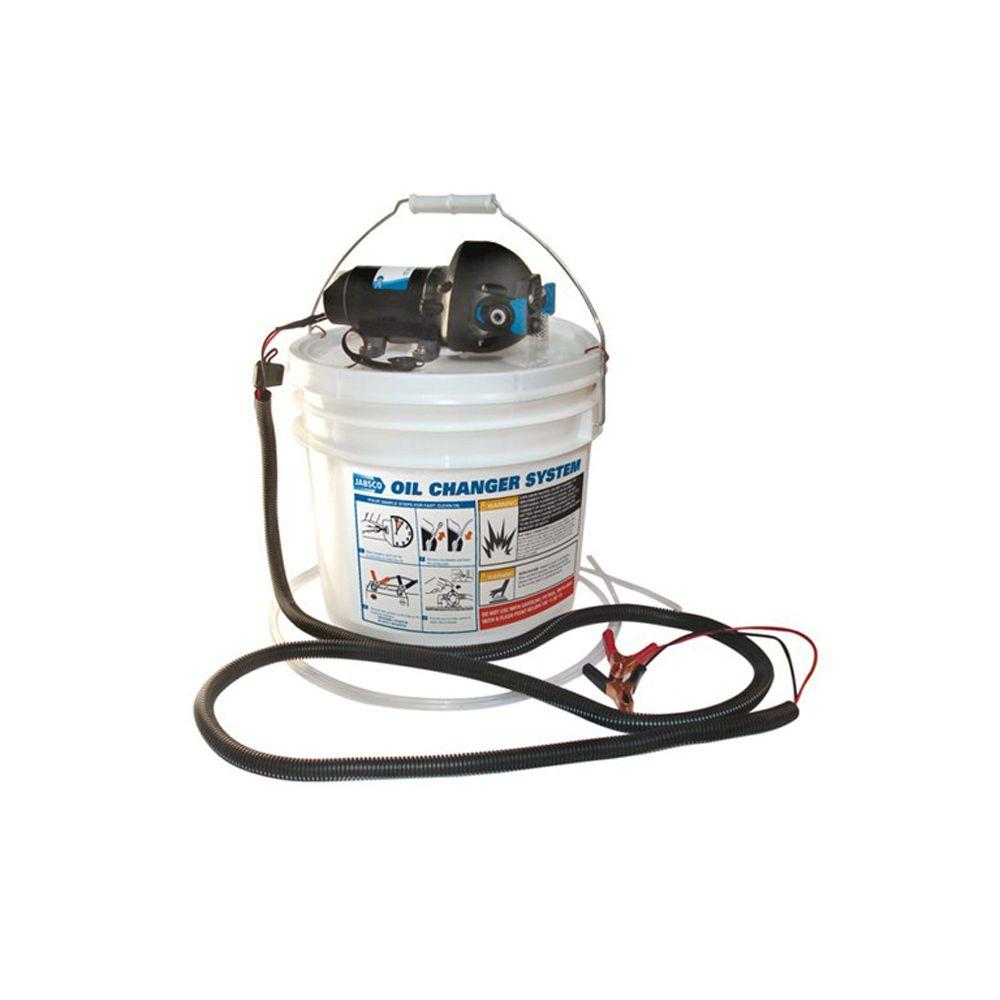 Jabsco 1/30 HP Oil Change System with Pump and 3.5-gal. Bucket-DISCONTINUED